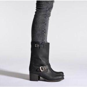 Frye Vera Short Engineer Boots in Black